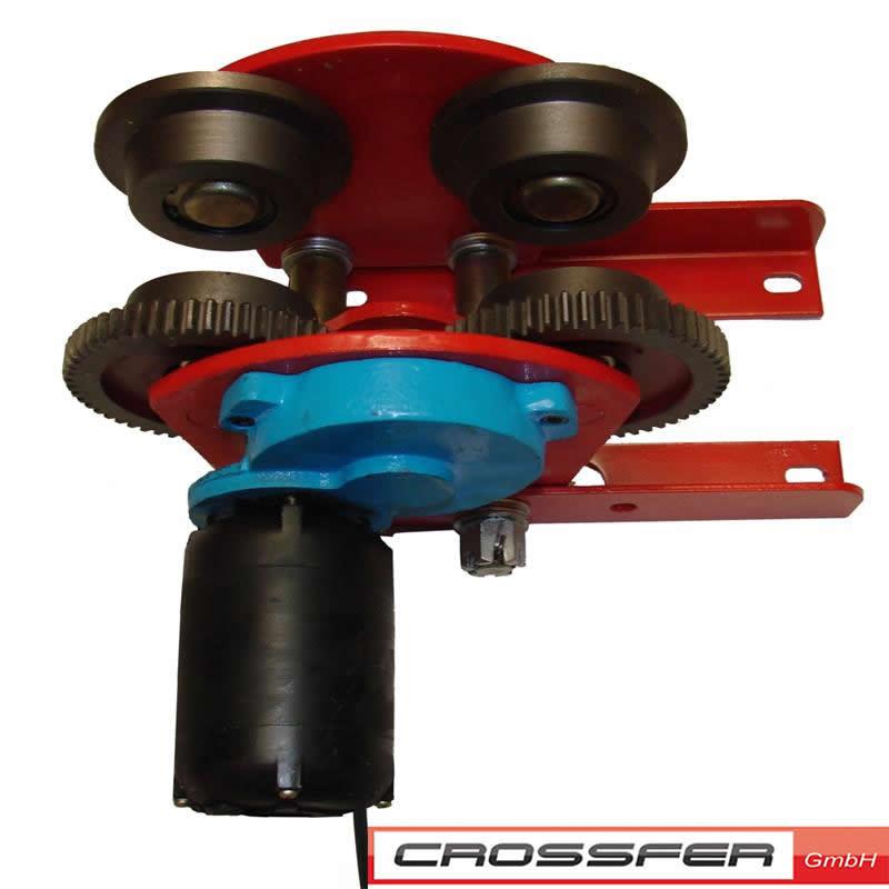 crossfer fahrwerk elektrisch 230v f r seilwinde bis 500kg. Black Bedroom Furniture Sets. Home Design Ideas