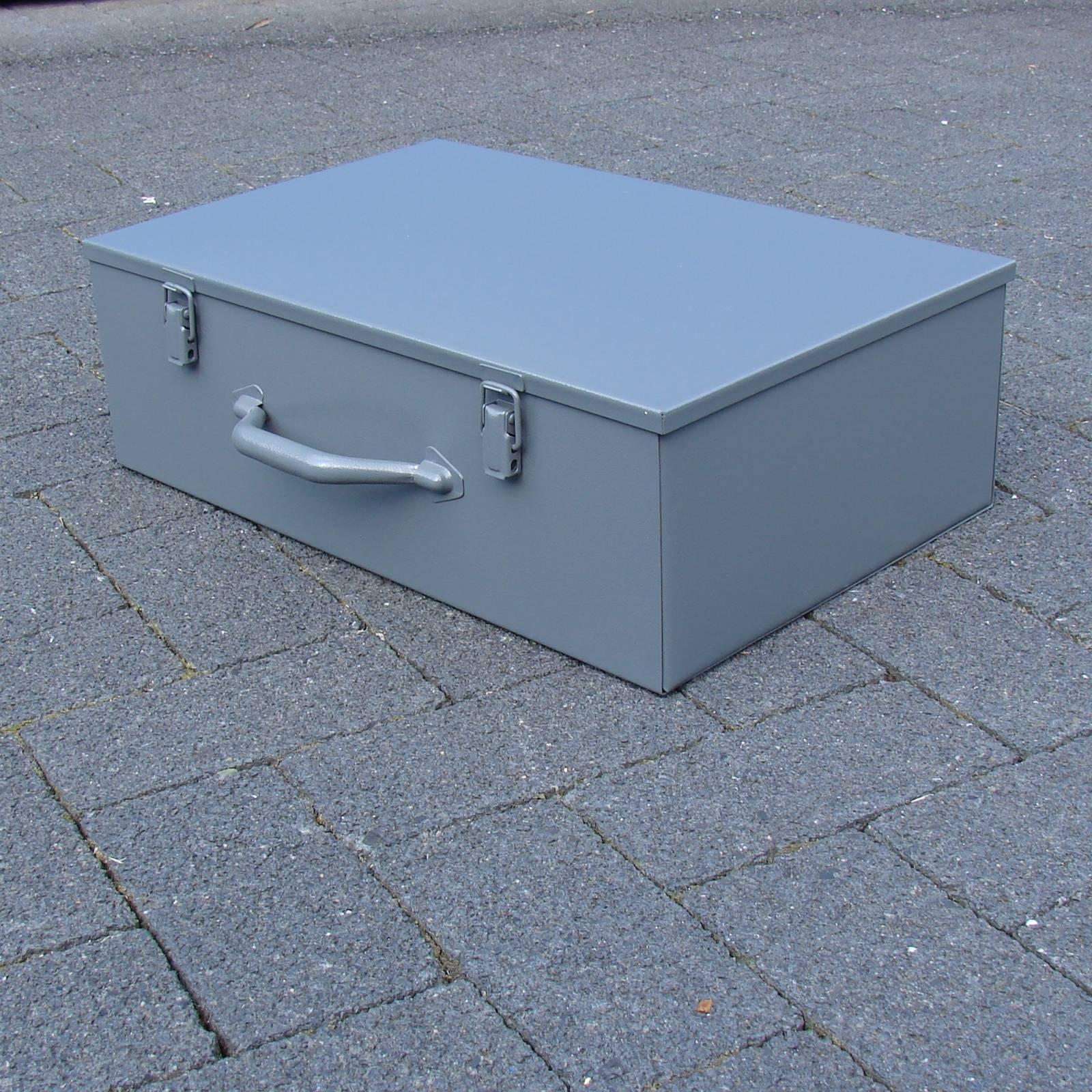 Werkzeugkoffer-Maschinenkoffer-47x30x15cm-Stahlblech-Koffer-Geraetekoffer-NEUWARE