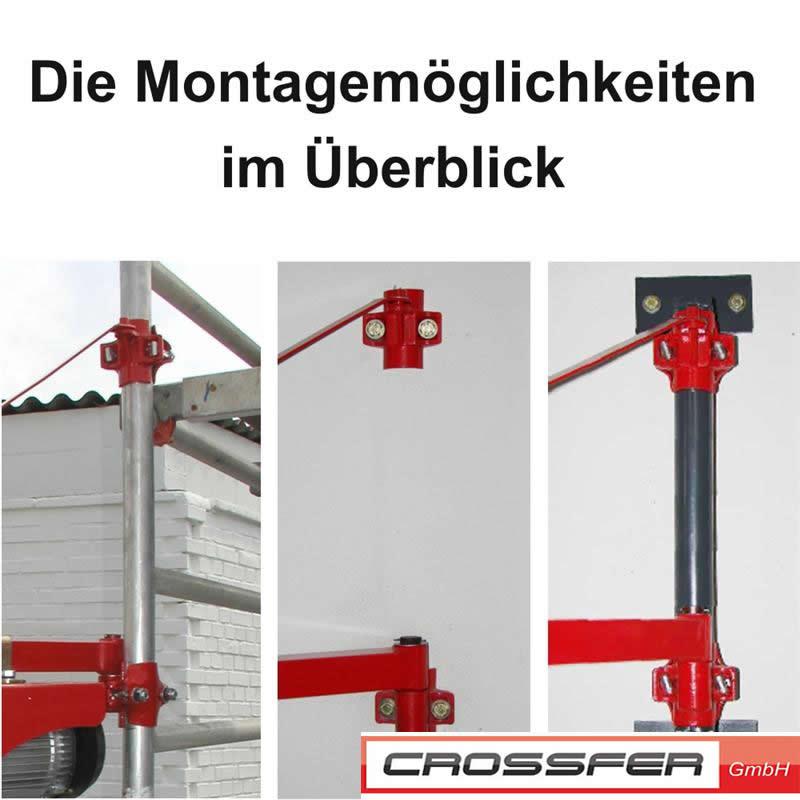 Schwenkarmhalterung kst600 750 kranarm mit 600 kg traglast - Elektrische zahnburste mit wandhalterung ...