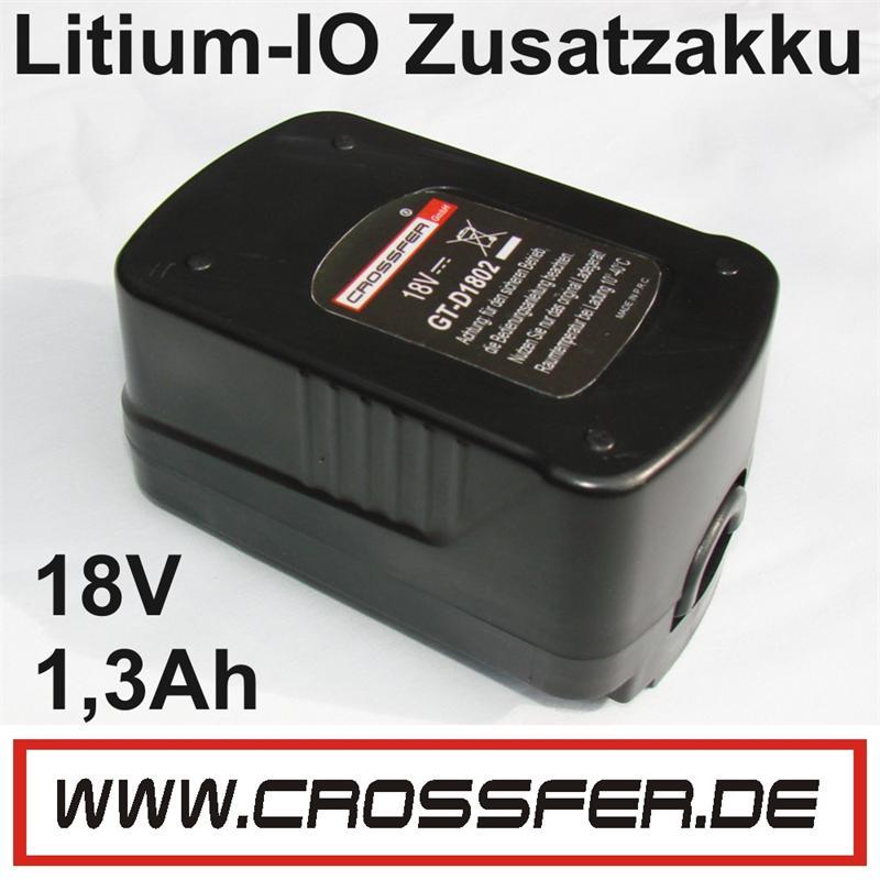AKKU Li-Ion 18V 1,3AH GT-D1802