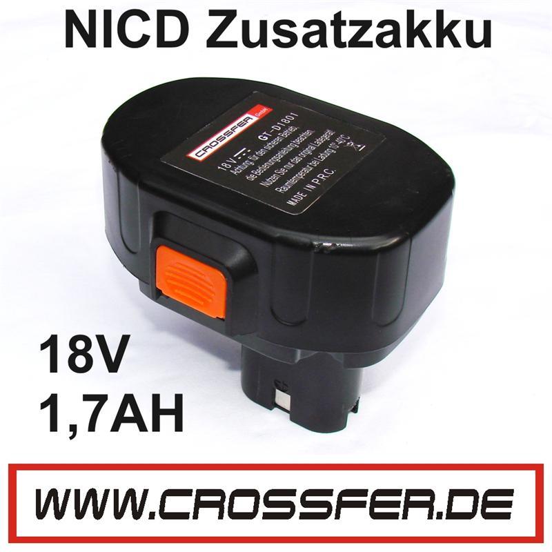 AKKU NICD-18V 1,7AH GT-D1801