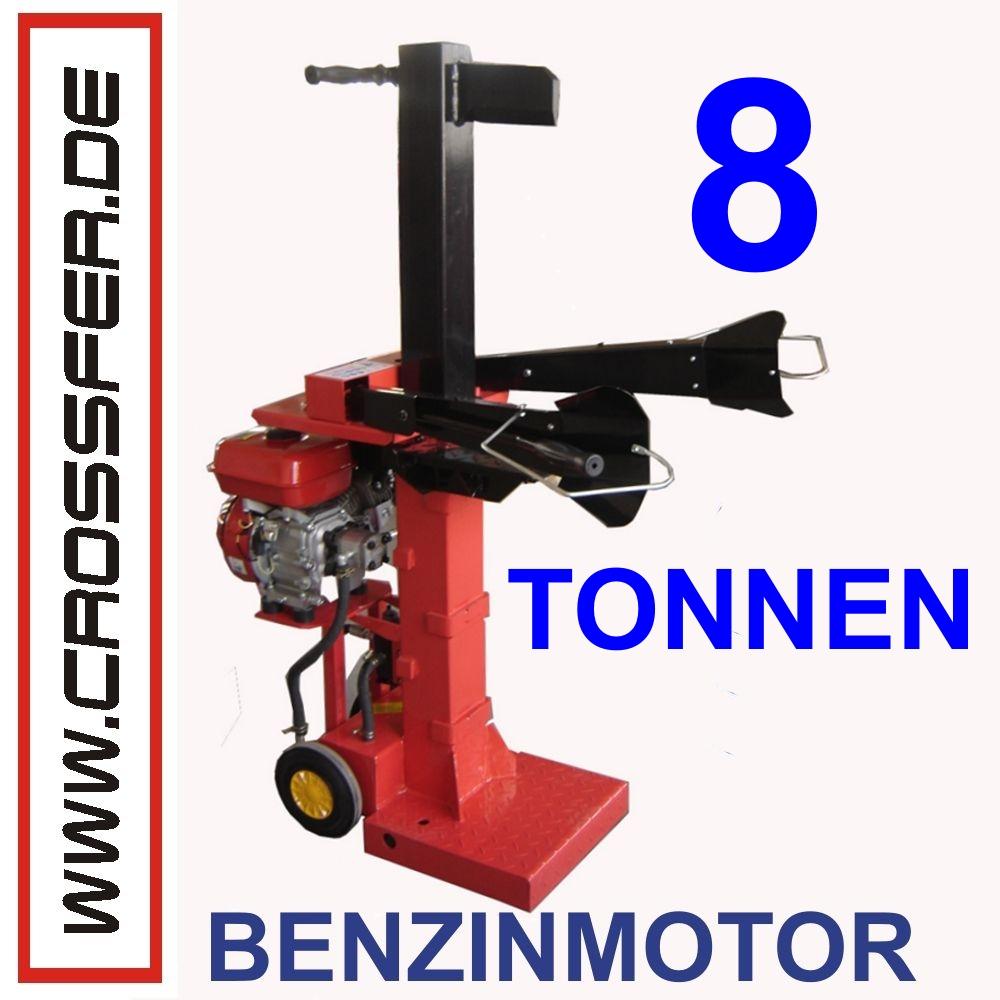 8 To Holzspalter stehend 6,5 PS Benzinmotor 127cm