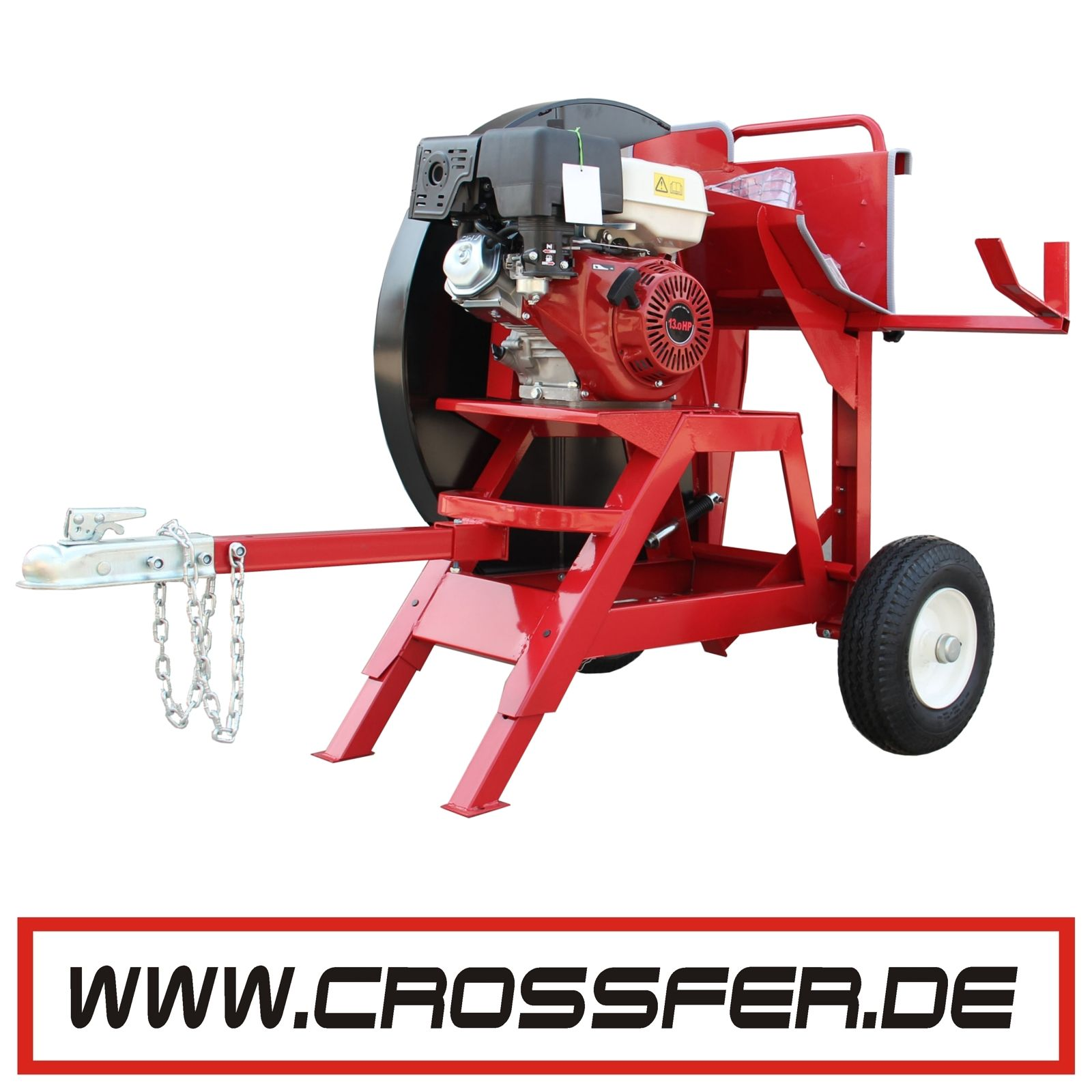 Brennholzsu00e4ge Wippkreissu00e4ge 700mm Mit 13 PS Benzinmotor Mit Deichsel Als Anhu00e4nger. Inklusive ...