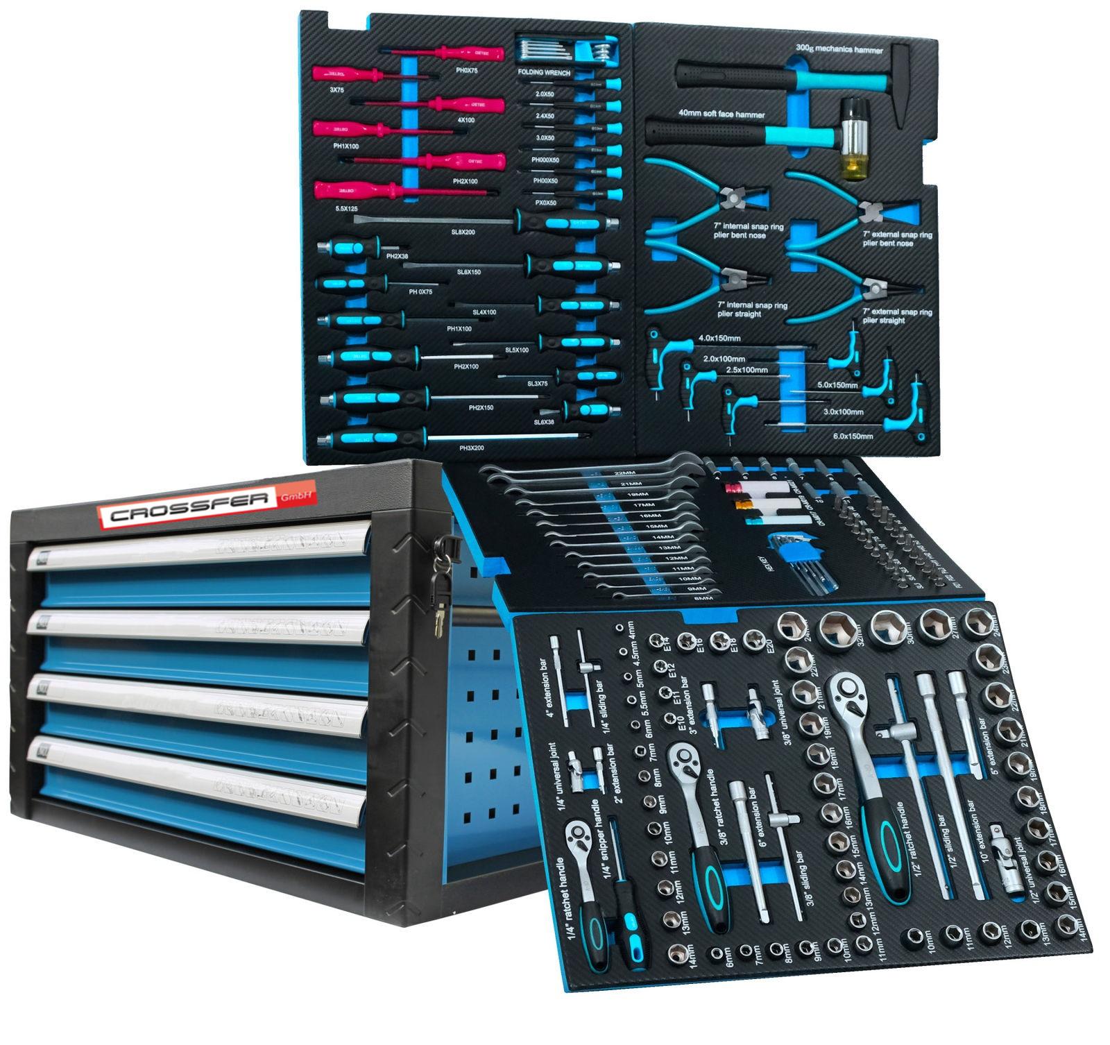 Werkzeugkiste 4 Schubladen gefüllt mit Werkzeug