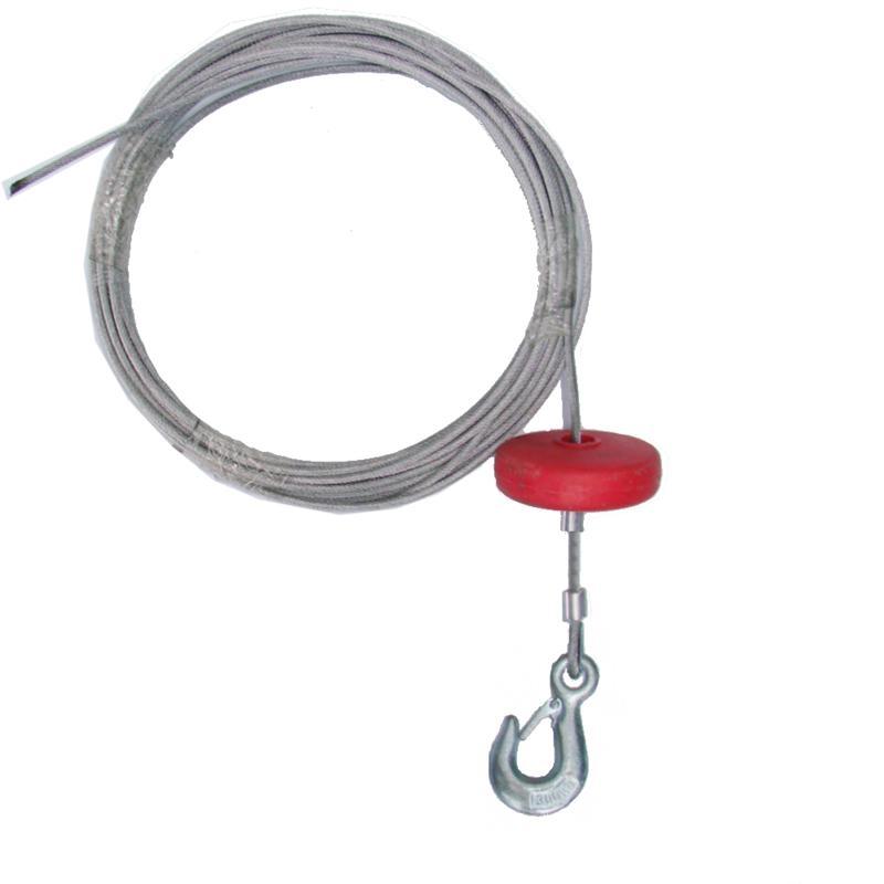 Stahlseil 4,5 mm Durchmesser mit Haken und Teller