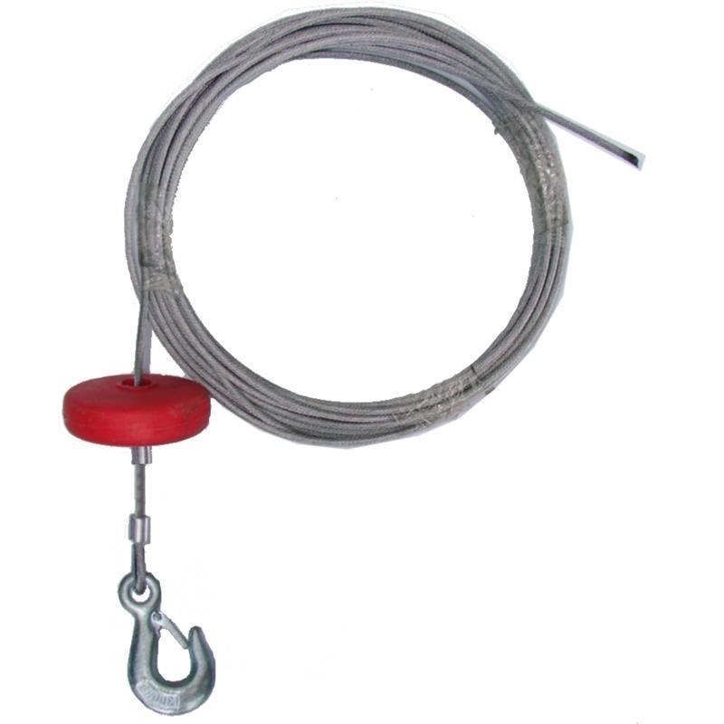 Stahlseil 6 mm Durchmesser mit Haken und Teller